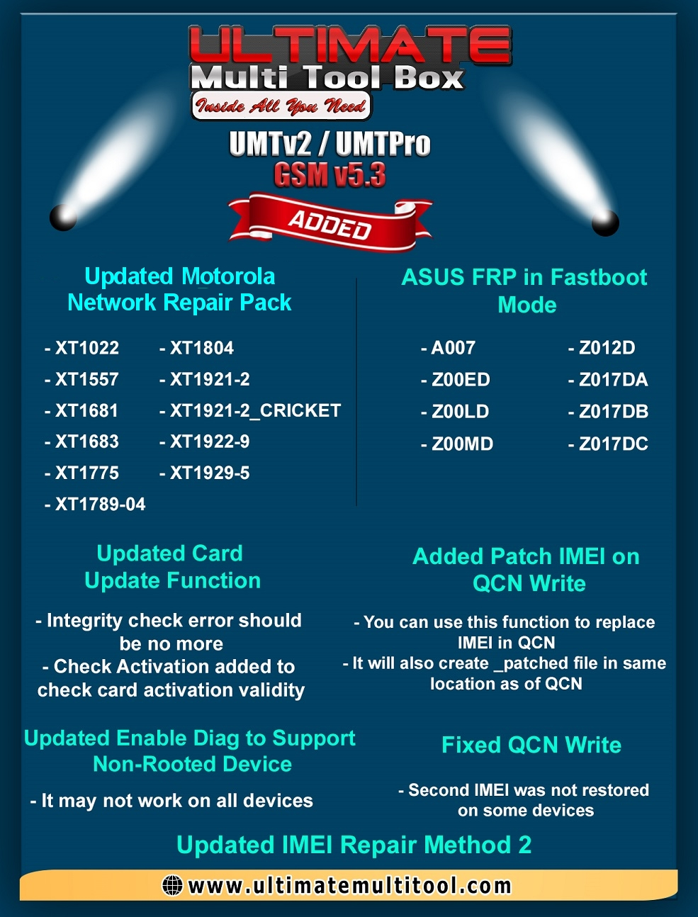 [20-05-19] UMTv2 / UMTPro UltimateGSM v5.3 - ASUS FRP in Fastboot and more...