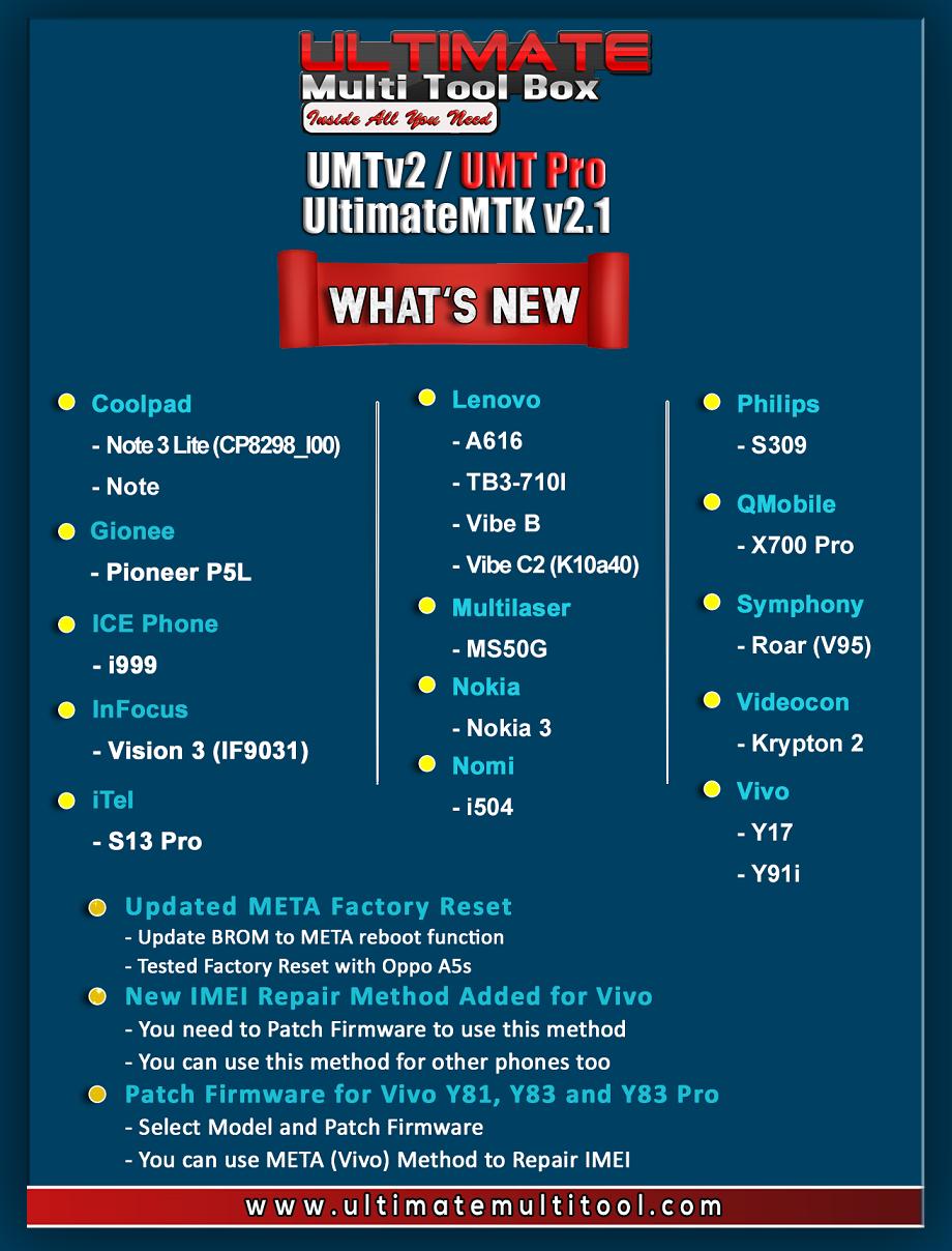 28-06-19] UMTv2 / UMT Pro - UltimateMTK v2 1 - Vivo Y17