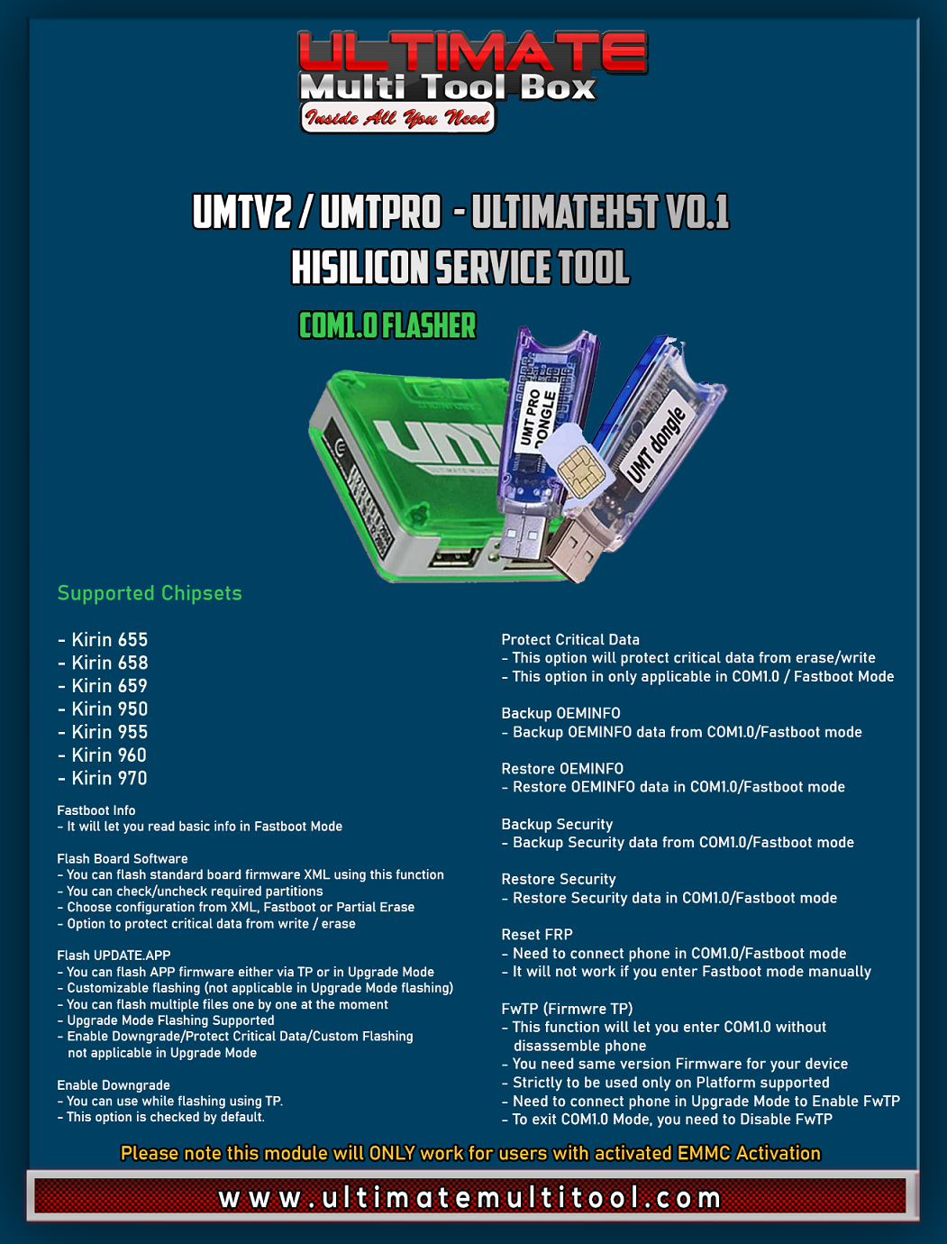 [07-12-20] UMTv2 / UMTPro - UltimateHST v0.1 - HiSilicon Service Tool Initial Release